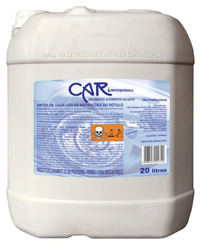 Car Alcalino – Detergente Alcalino