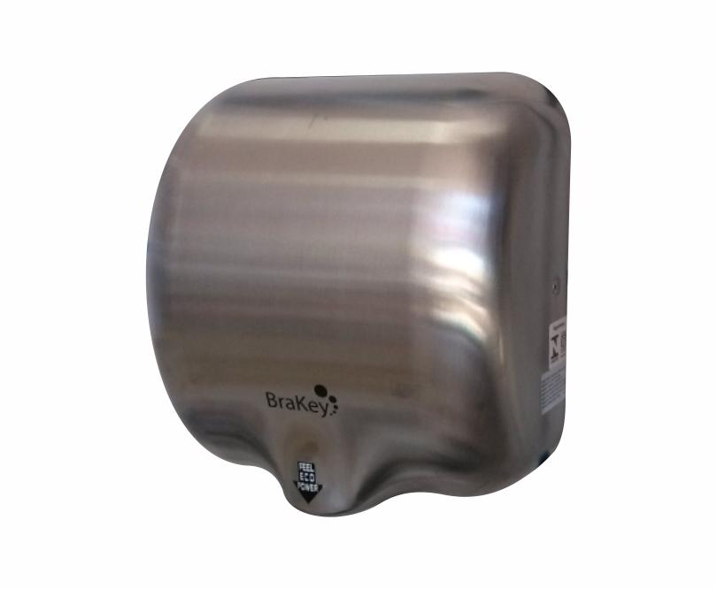 Secador de mãos com sensor 220V aço inox BRAKEY
